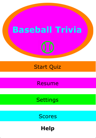 Screenshot BaseballTrivia